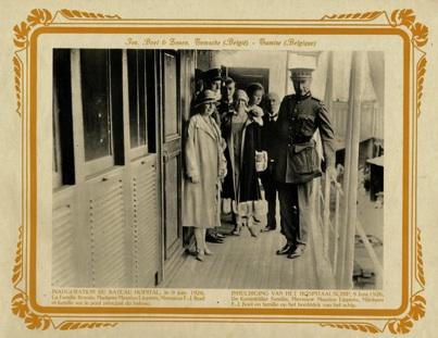 Bezoek van Koning Albert I aan de scheepswerf in Temse, 1926