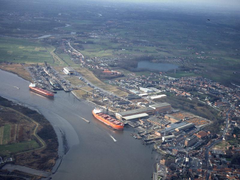 Luchtfoto van Boelwerf